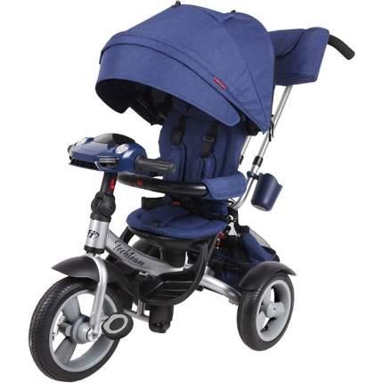 Детский трехколесный велосипед-коляска Tech Team Luxury цв.синий