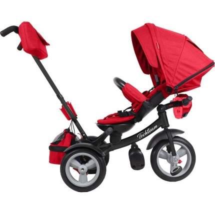 Детский трехколесный велосипед-коляска Tech Team Luxury цв.красный
