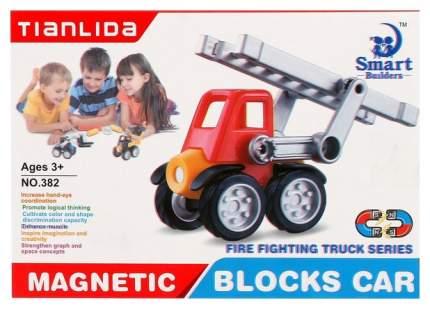 Конструктор магнитный «Пожарная машина», 6 деталей Sima-Land