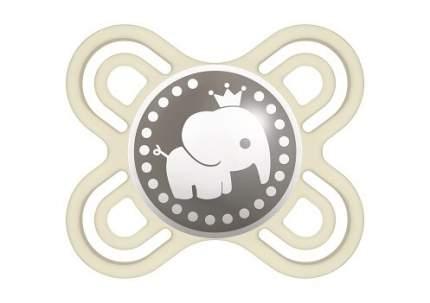 Пустышка силиконовая MAM Perfect Start с контейнером, бежевый слоник, 0-2 мес.