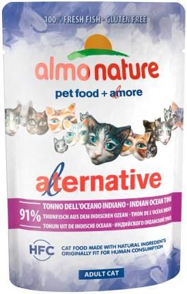 Влажный корм для кошек Almo Nature Alternative, с тунцом индийского океана, 55г