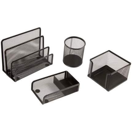 """Настольный набор """"Steel&Style"""", 4 предмета, черный"""