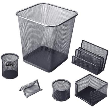 """Настольный набор """"Steel&Style"""", 6 предметов (черный)"""