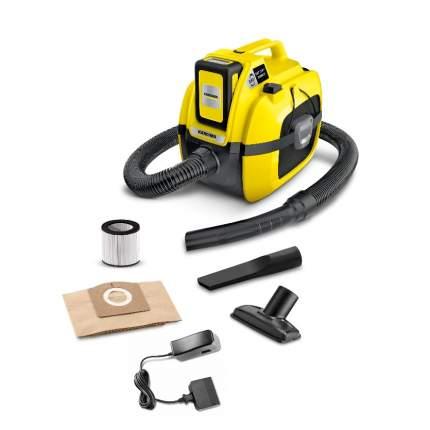 Аккумуляторный строительный пылесос Karcher WD 1 Comapct Set ЗУ в комплекте 1.198-301.0