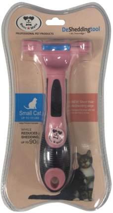 Расческа-триммер PerseiLine для короткошерстных кошек с очистителем S 4,5 см