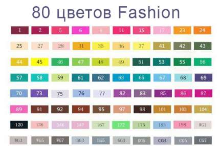 Набор маркеров спиртовых TouchFive 80 цветов Architecture
