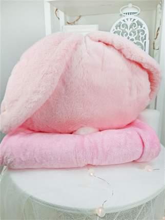 Мягкая подушка с пледом Cherir Зайка розовая