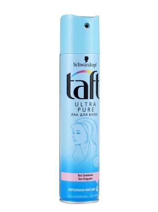 Лак для волос TAFT Ultra Pure без силикона и отдушек, сверхсильная фиксация 225 мл
