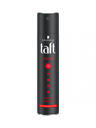 Лак для укладки волос Taft Power, до 72 часов силы и энергии, мегафиксация 5, 225 мл