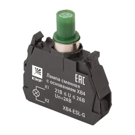 Лампа сменная c основанием XB4 зеленая 24В EKF PROxima