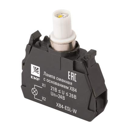Лампа сменная c основанием XB4 белая 24В EKF PROxima