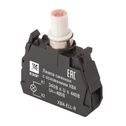 Лампа сменная c основанием XB4 красная 400В EKF PROxima