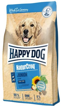Сухой корм для щенков Happy Dog NaturCroq Junior, все породы, птица, 1кг