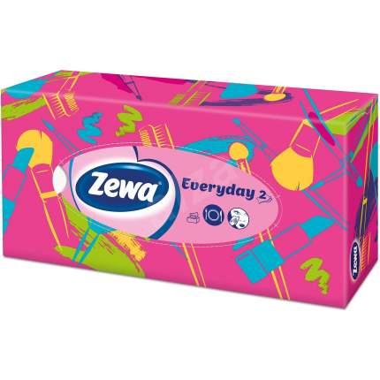 Салфетки Zewa Everyday бумажные косметические 2 слоя 100 штук