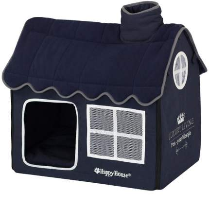 Домик для кошек и собак Happy House LUXSURY LIVING Вилла, синий, 62x42x59см