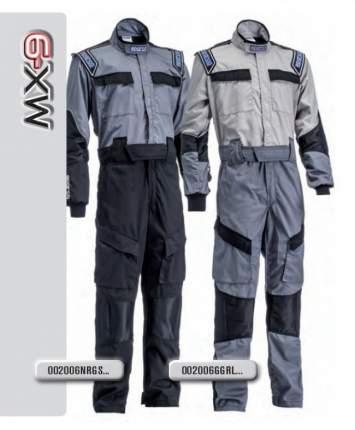Комбинезон механика MX9, серый/серебро, р-р M Sparco 002006GGRL2M