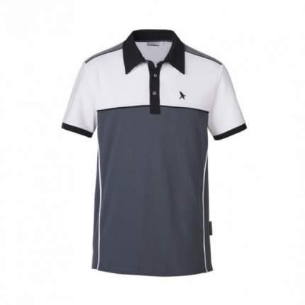 Поло White/Gray, 95% Cotton, 5% Elastane Black Falcon PO-9006-18-L