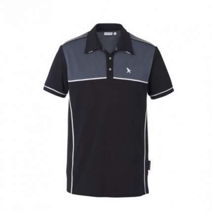 Поло Black/Gray, 95% Cotton, 5% Elastane Black Falcon PO-9005-18-XL