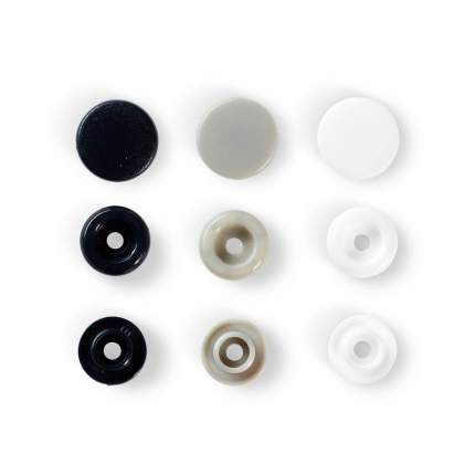 Кнопки PRYM Love Color Snaps, белый/серый/тёмно-синий, 12мм, 30шт, 393008