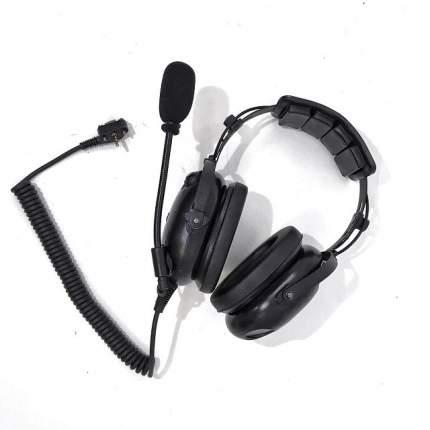 Гарнитура для радиостанции Vertex (кнопка PTT на чашке) DenCom AH-501V