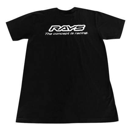 "Футболка RAYS ""The Concept is Racing"" BLACK р-р LARGE RAYS RAYSCON2019TSBL"