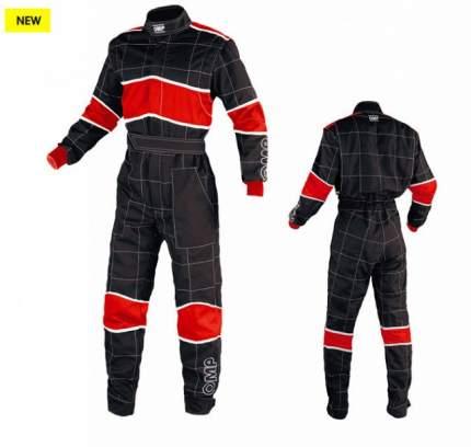 Комбинезон механика BLAST 2, черный/красный/белый, р-р 44 OMP Racing NB1576E07144