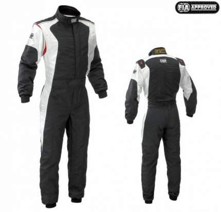 Комбинезон для автоспорта (FIA) DART, черный/белый, р-р 50 OMP Racing IA01836F07650