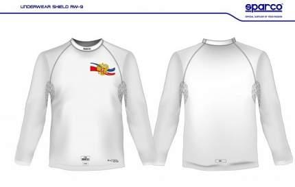 Майка/футболка (FIA) SHIELD RW-9 с гербом России, белый, р-р M/L Sparco 001764MBOMLR
