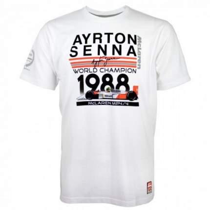 Футболка Senna World Champion 1988 McLaren (белый) р-р S Racing Legends AS-ML-18-130_s