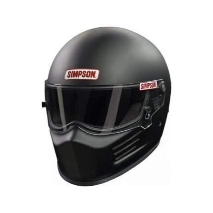 Шлем для автоспорта закрытый BANDIT чёрный матовый, FIA 8859-15, р-р S Simpson 6200018F