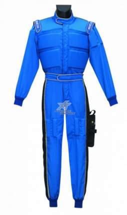 Комбинезон для водно-моторного спорта Powerboat, синий/черный, р-р L Sparco 001054X3LAZNR