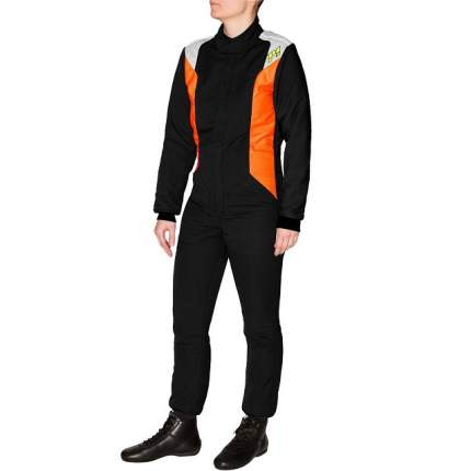 Комбинезон для автоспорта SMART-J9,детский,FIA,чёрный/оранжевый,145 P1 Racewear A19J9BE145