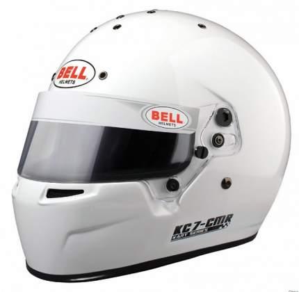 Шлем для картинга KC7-CMR (CIK, CMR2016), белый, р-р 57 BELL 1311006