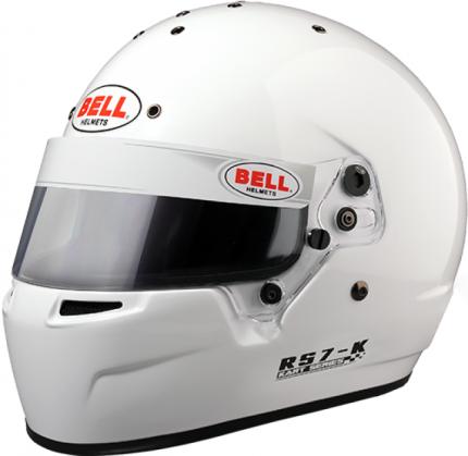 Шлем для картинга RS7-K, Snell K2015, белый, р-р LRG (60-61) BELL 1310033