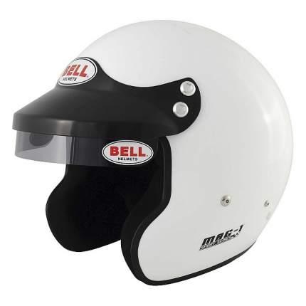 Шлем для автоспорта открытый MAG-1, FIA8859, белый, р-р XLG (61+) BELL 1426044