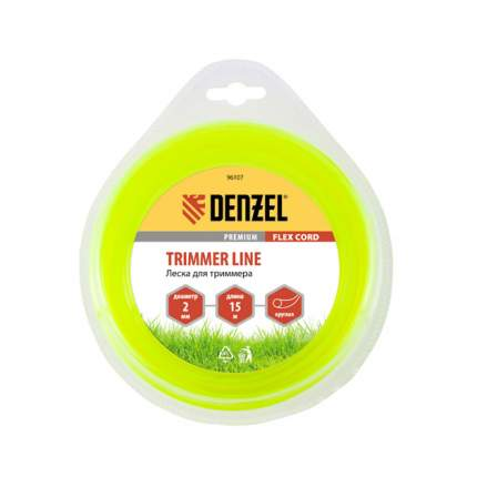 Леска для триммера Denzel, круглая, 2 мм х 15 м