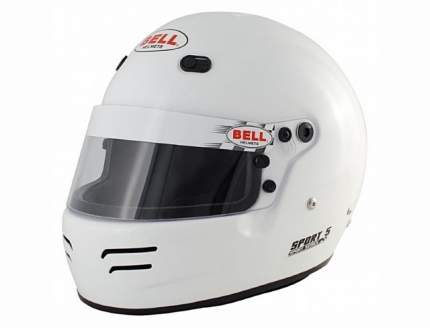 Шлем для автоспорта закрытый SPORT 5, FIA8859, HANS, белый. р-р LRG (60-61) BELL 1418013