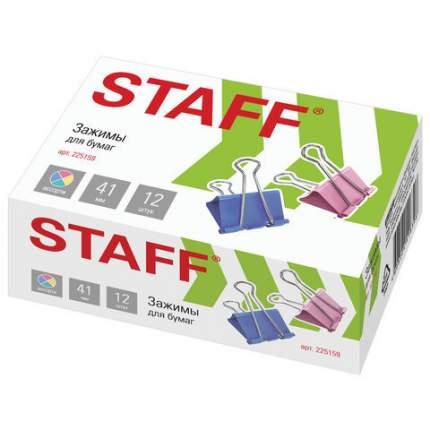 Зажимы для бумаг STAFF 225159 12 шт