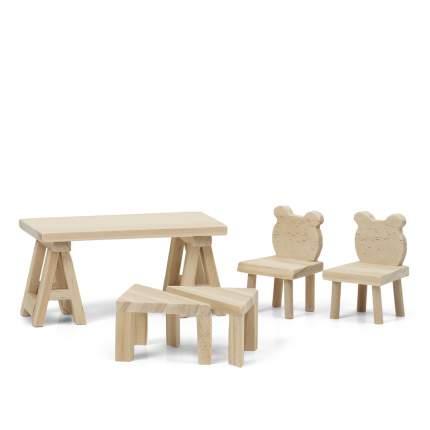 Набор деревянной мебели для домика Lundby Стол и стулья LB_60906400