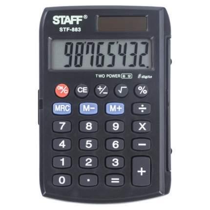 Калькулятор Staff STF-883, 8 разрядов, двойное питание, 95х62 мм