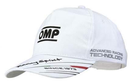 Кепка Race Cap белая, хлопчатобумажная ткань OMP Racing PR918020