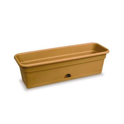 Балконный ящик для цветов с нижним поливом, 60x20x17 см (терракот)