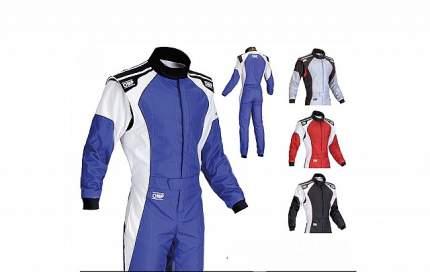 Комбинезон (CIK) KS-3, синий/белый, р-р 56 OMP Racing KK0172304356
