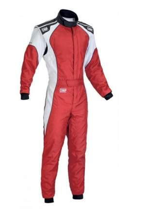 Комбинезон (CIK) KS-3, красный/белый, р-р 56 OMP Racing KK0172306356