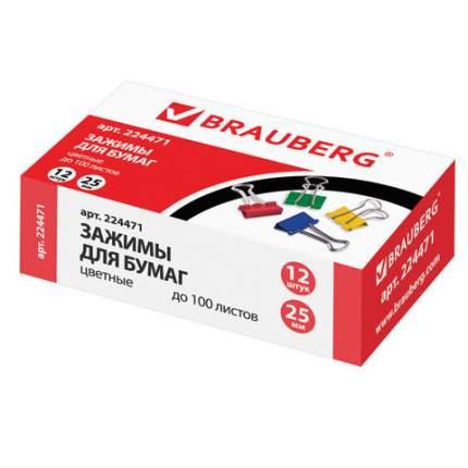 Зажимы для бумаг BRAUBERG 224471 12 шт