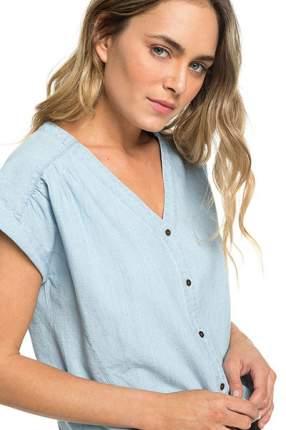 Блузка с коротким рукавом Feel The Bronx Roxy, голубой, S