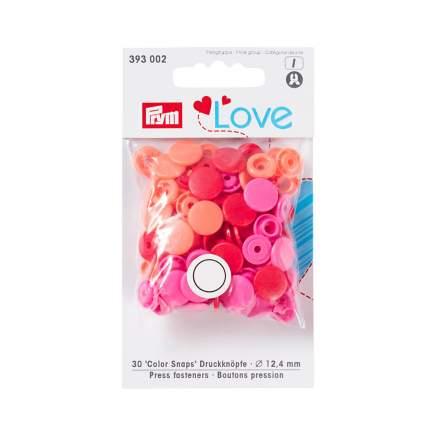 Кнопки PRYM Love Color Snaps, красный/розовый 12мм, 30шт, 393002