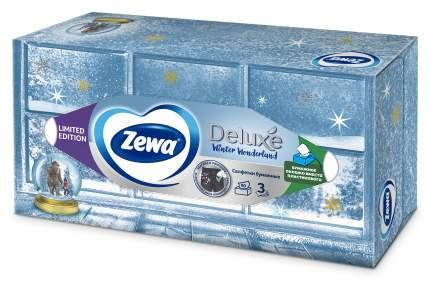 Салфетки Бумажные Косметические  Zewa Deluxe Дизайн, 3 слоя, 90 шт.