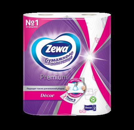 Бумажные полотенца Zewa premium decor 2 рулона