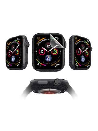 Защитная пленка MOCOLL для Apple Watch 40mm Glossy (4шт) Кожа Черная